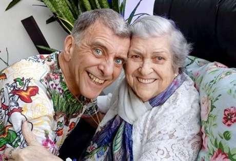 Dona Hilda com Jorge Fernando: ela se tornou atriz para ficar mais perto do filho no dia a dia
