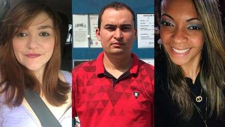 Blanca Monje Uribe, Rosivaldo da Silva e Jéssica dos Santos perderam o emprego recentemente