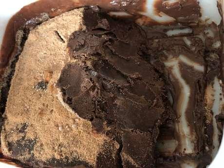 Sorvete de whey de chocolate