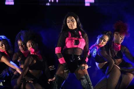 Ludmilla durante show do Festival Eletriza; funkeira encerrou o dia de apresentações na Arena Anhembi