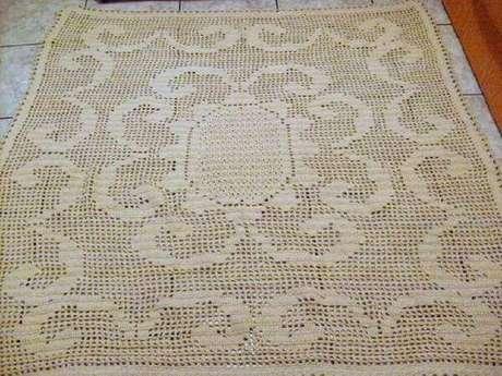 51. Como fazer tapete de crochê: Siga o passo a passo do gráfico! – Por: Pinterest