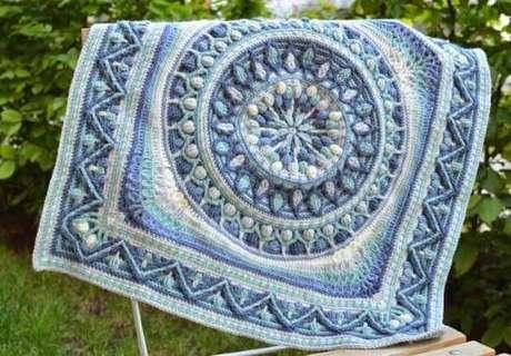 56. Tapete de crochê com desenhos geométricos – Por: Decor Fácil