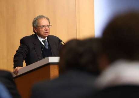 O ministro da Economia, Paulo Guedes, no Peterson Institute for International Economics, em Washington