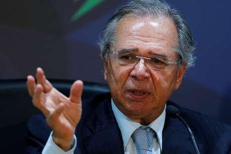 Ministro da Economia, Paulo Guedes, durante entrevista coletiva em Brasília 05/11/2019 REUTERS/Adriano Machado
