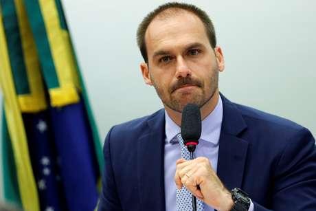 Eduardo Bolsonaro durante reunião da Comissão de Relações Exteriores da Câmara dos Deputados 21/08/2019 REUTERS/Adriano Machado