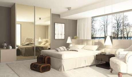 64. Um bom espelho para quarto deve ser funcional as moradores. Projeto de Marel – Grupo Factory
