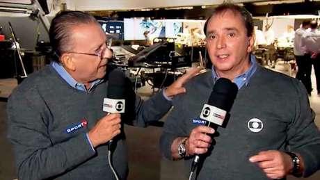 Galvão Bueno vai ficar sem o seu companheiro de transmissões da F1, Reginaldo Leme(Foto: Reprodução/Instagram @regileme)