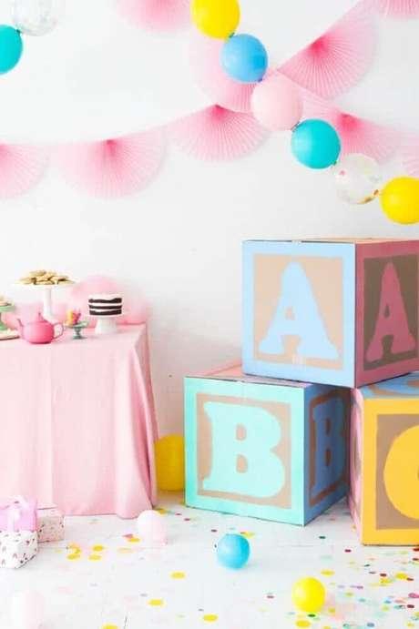 32. Invista em detalhes infantis para a decoração de chá de bebê – Foto: Asset Project