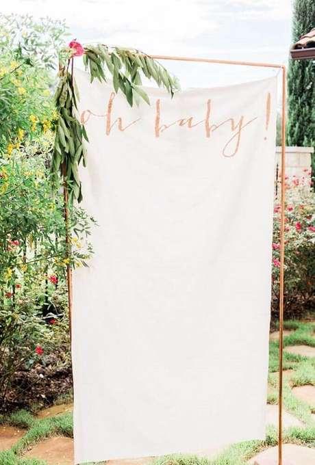 51. Ideias para chá de bebê ao ar livre. Torne a decoração de chá de bebê ainda mais linda – Foto: Moore & Co. Event Stylists