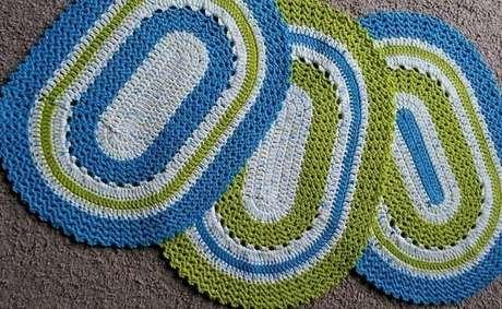 59. Diferentes modelos de tapete de crochê oval. Fonte: Crochê em Dia