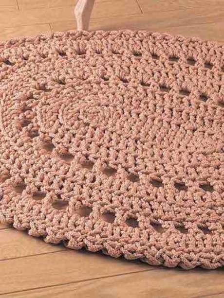 37. Tapete com tons de rosa e bege. Fonte: Pinterest