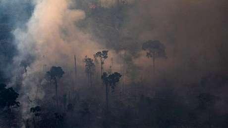 Dados atmosféricos mostraram que a fumaça das queimadas foi transportada pelo vento e depositada nas geleiras das montanhas