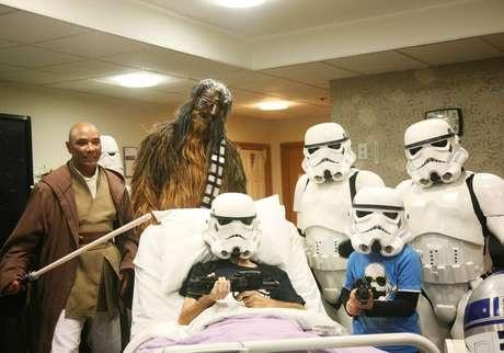 A instituição em que o paciente está internado também realizou uma festa com a temática de Star Wars