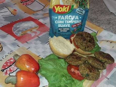 Hambúrguer fit funcional da Tia Nina