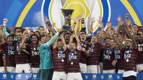 Flamengo comemorou o título brasileiro na última noite (Foto: Delmiro Junior/Photo Premium/Lancepress!)