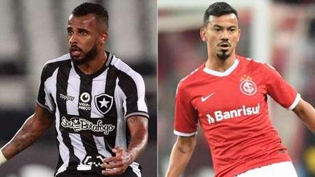 Alex Santana e Rodrigo Lindoso (Fotos: Vítor Silva/Botafogo; Ricardo Duarte/Internacional)