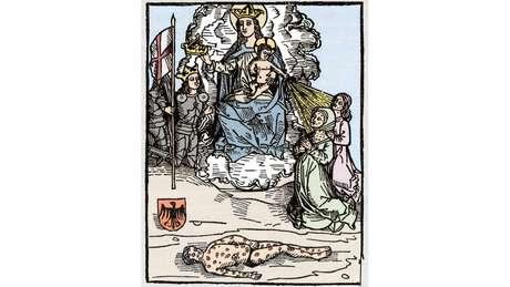 Ilustração da sífilis feita na Idade Média; como é possível que uma infecção facilmente detectável, que existe há pelo menos 500 anos e cujo tratamento é simples e barato, ainda atinja um número tão grande de pessoas?