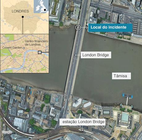 Mapa de local do incidente