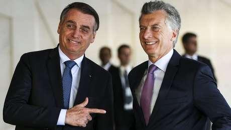 Macri esteve com Bolsonaro em Brasília e convidou-o a visitar Buenos Aires