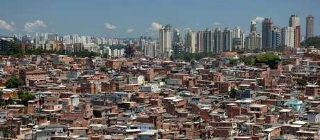 A comunidade de Paraisópolis, na zona sul de São Paulo