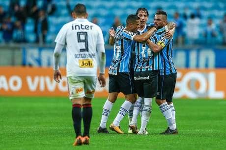São Paulo perdeu por 2 a 1 de virada para o Grêmio em 2018 (Foto: Lucas Uebel/Grêmio)