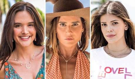 Juliana Paiva, Deborah Secco e Vitória Strada como suas personagens na novela 'Salve-se Quem Puder', que tem estreia prevista para 2020.