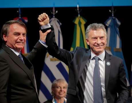 Presidentes Jair Bolsonaro e Mauricio Macri (Argentina) 17/07/2019 Presidência da Argentina/Divulgação via REUTERS