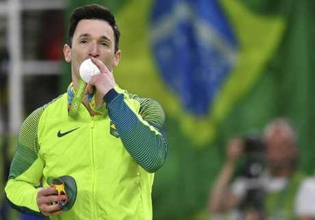 Diego se superou e conquistou a medalha de prata no Rio, em 2016 (Foto: AFP/BEN STANSALL)