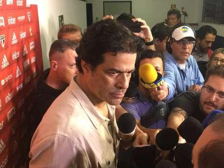 Raí , diretor de futebol do São Paulo, falou após a derrota em Porto Alegre (Fellipe Lucena)