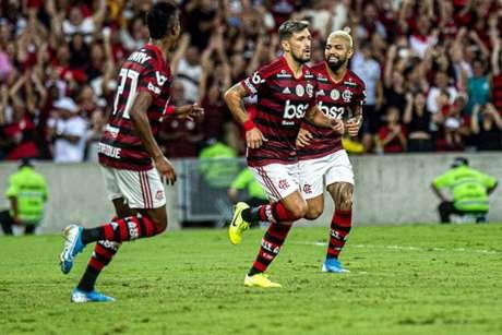 Arrascaeta tem 12 gols nesse Brasileiro (Foto: Alexandre Vidal, Marcelo Cortes & Paula Reis / Flamengo)