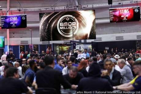 BSOP Millions é a última etapa do Brazilian Series of Poker, o Circuito Brasileiro de Pôquer (Divulgação)