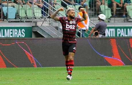 Gabigol marcou dois contra o Palmeiras (Renato Gizzi/Lancepress!)