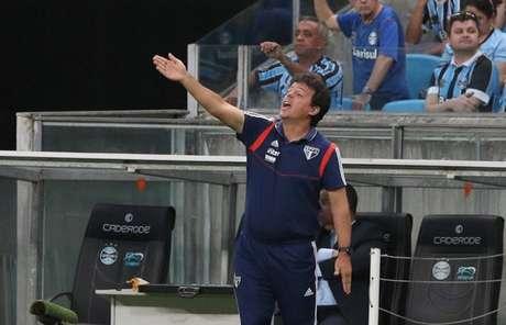 Fernando Diniz na derrota para o Grêmio - FOTO: Rubens Chiri/saopaulofc.net