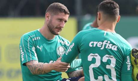 Zé Rafael e Raphael Veiga tratam pancada e não treinaram com os companheiros (Agência Palmeiras/Divulgação)