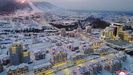A cidade de Samjiyon pode acomodar até 4 mil famílias