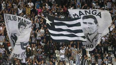 Torcida do Botafogo contra o Internacional (Foto: Vítor Silva/Botafogo)
