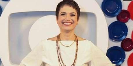 Sandra Annenberg durante gravação da mensagem de fim de ano da Globo: jornalista perdeu visibilidade na emissora