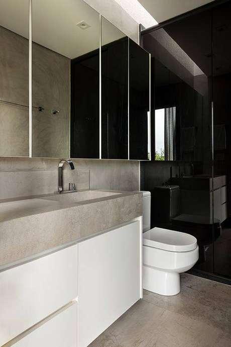 13. A torneira para pia de banheiro pode ser delicada e ainda assim chamar a atenção. Projeto de SAINZ Arquitetura