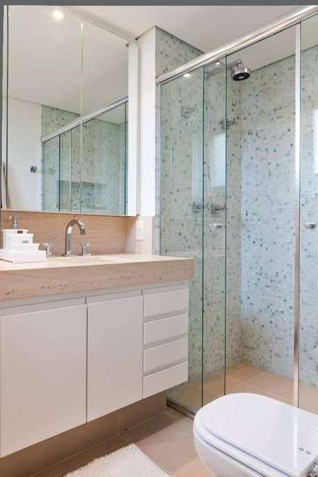 36. A torneira para pia de banheiro pode melhorar o ambiente. Projeto de Lucila Bertoncello