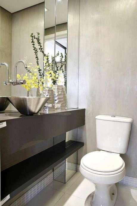 1. A torneira para pia de banheiro é algo necessário em qualquer casa. Projeto de Lúcia Stuhlberger