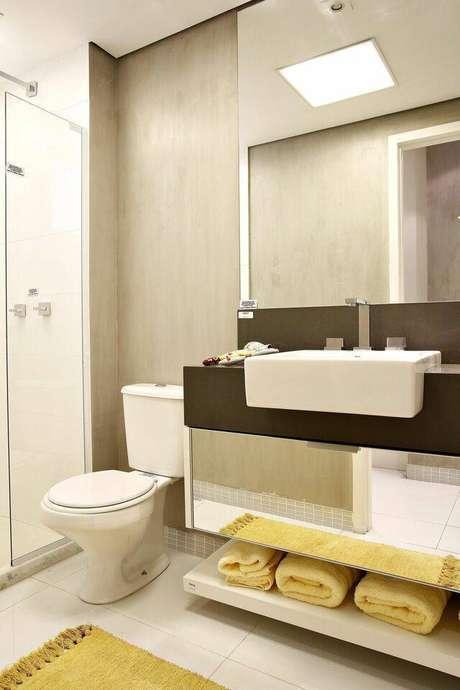 9. A torneira para pia de banheiro faz toda a diferença no ambiente. Projeto de Lúcia Stuhlberger