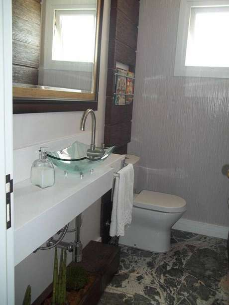 8. Existem muitos modelos de torneira para pia de banheiro no mercado. Projeto de Letícia Almeida