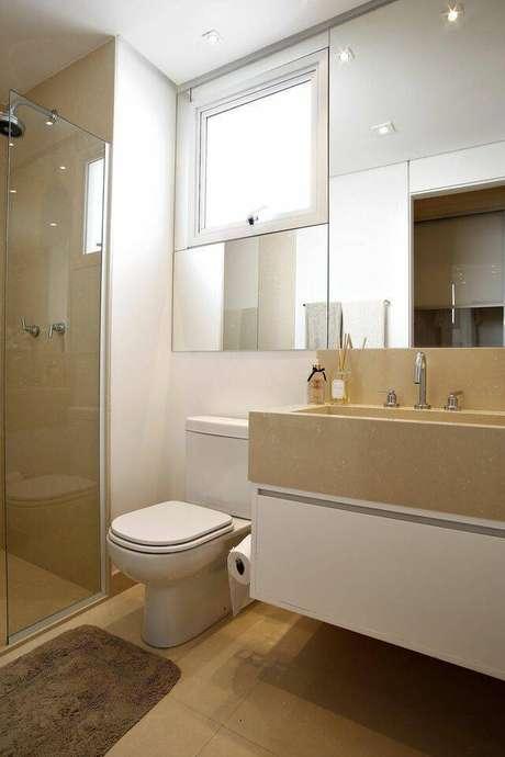 11. A torneira para pia de banheiro pode ser muito delicada. Projeto de BY Arq&Design