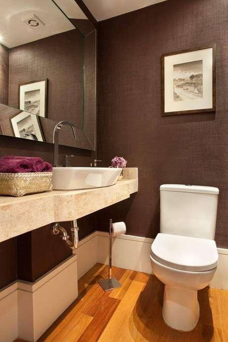 5. A torneira para pia de banheiro bica alta é um tendência vista em todas as casas. Projeto de Liliana Zenaro