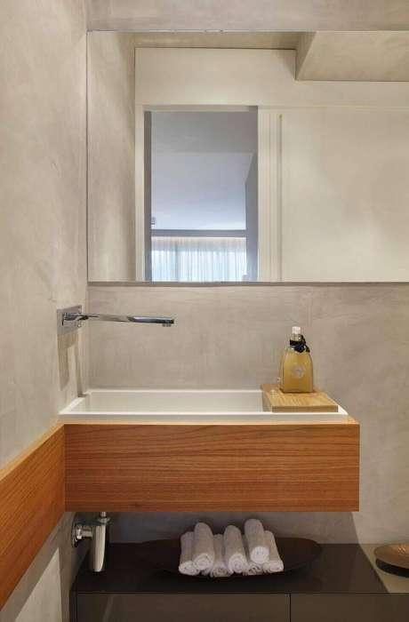 18. A torneira para pia de banheiro pode ser instalada de muitos modos. Projeto de Studio Eloy e Freiras Arquitetura