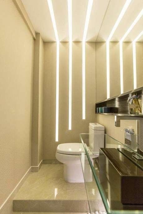 4. A torneira para pia de banheiro elétrica possui um ótimo custo-benefício. Projeto de Andrea Fonseca