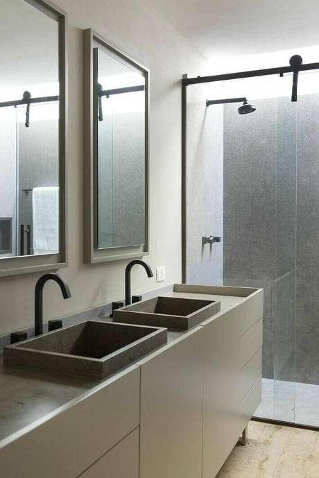 7. A escolha da torneira para pia de banheiro depende de muitos fatores. Projeto de Triplex Arquitetura