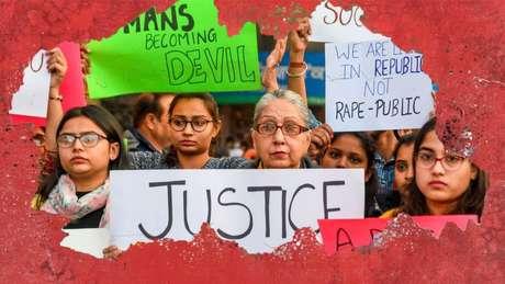 A indignação está aumentando na Índia após a suspeita de estupro e assassinato de uma mulher de 27 anos