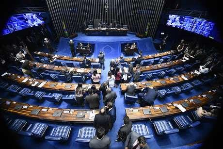 O plenário do Senado, em Brasília
