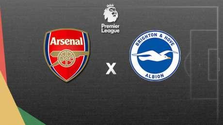Arsenal e Brighton se enfrentam nesta quinta-feira, às 17h15 (Foto: Lance!)